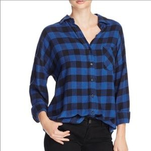 Rails Jackson blue black plaid shirt size XS